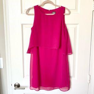 Vince Camuto Pink Layered Chiffon Dress